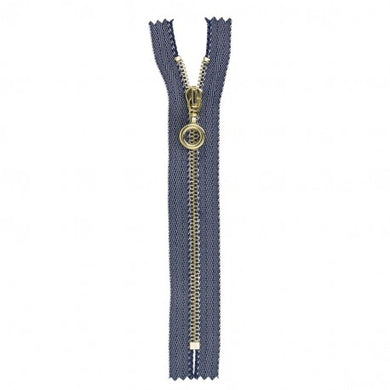 Jeans Metal Round Pull Non Separating Zipper