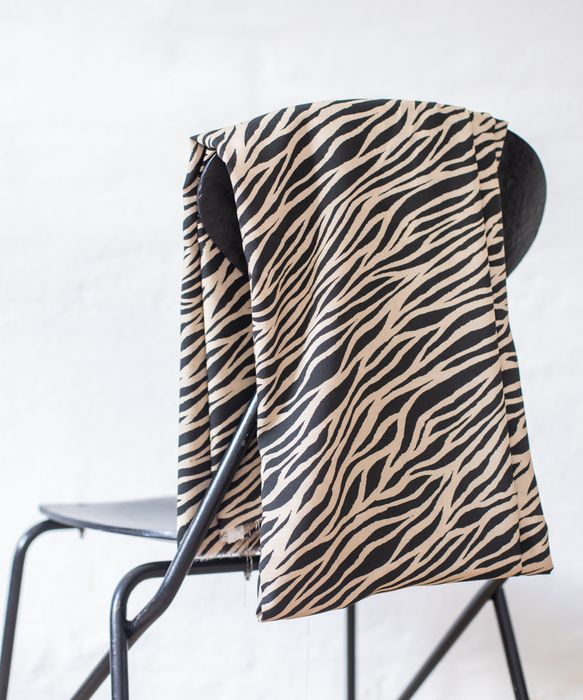 Zebra by Mind the MAKER Black Viscose Twill