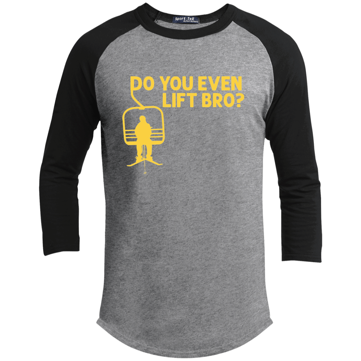 41856b3d Do You Even Lift Bro Ski Youth 3/4 Sleeve T-Shirt – Last Chairlift