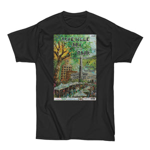 Heavy Asheville Art in the Park 2015 Men's Short Sleeve T-Shirt