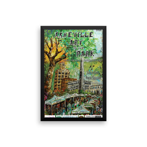 Framed 2015 Asheville Art in the Park poster