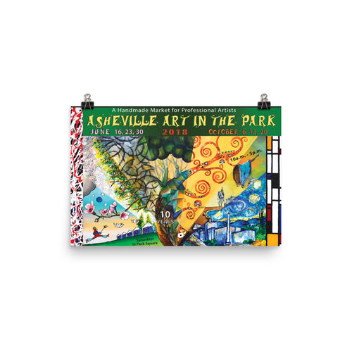 2018 Asheville Art in the Park poster
