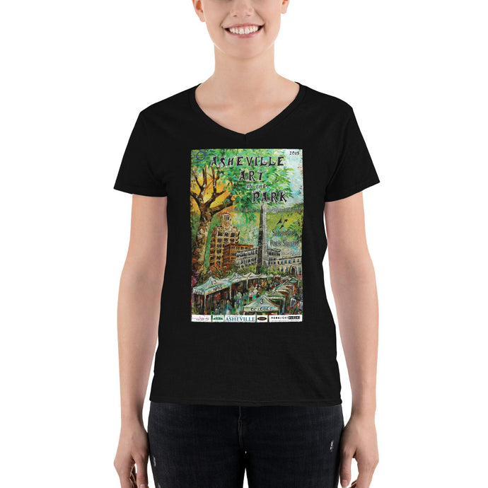 2015 Asheville Art in the Park Women's Casual V-Neck Shirt