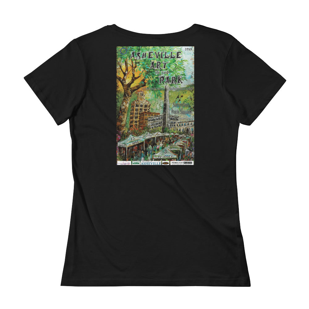 Back Print 2013 Asheville Art in the Park Ladies' Scoopneck T-Shirt