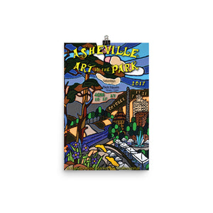 2017 Asheville Art in the Park Poster