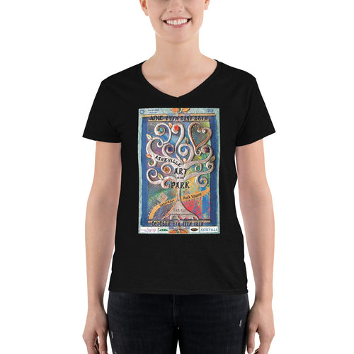 2014 Asheville Art in the Park Women's Casual V-Neck Shirt
