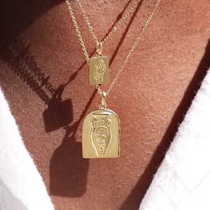 GOLD TAHNEE KELLAND VESSEL NECKLACE