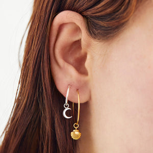 GOLD SEASHELL EAR CHARMS [CHARMS ONLY, EARRINGS NOT INCLUDED]