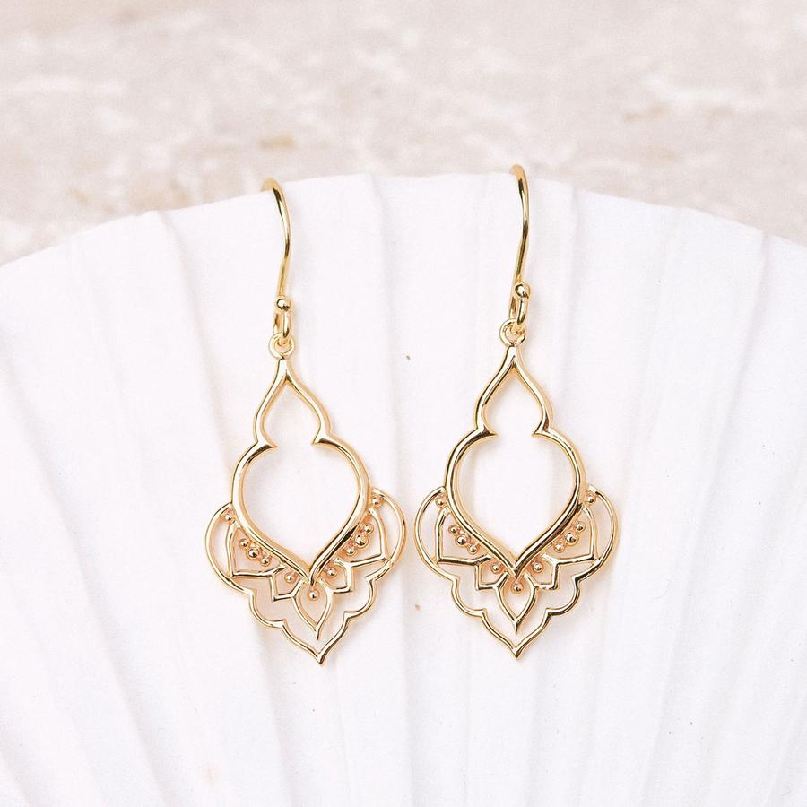 GOLD MOROCCAN DOORWAY EARRINGS