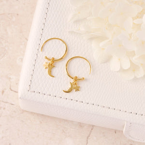 GOLD LULLABY HOOP EARRINGS