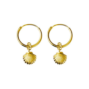 GOLD SEASHELL SLEEPER EARRINGS