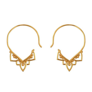 GOLD MEHNDI HOOPS - RETREALM