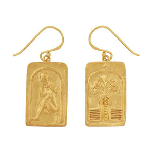 GOLD TAHNEE LOVE OVER FEAR EARRINGS