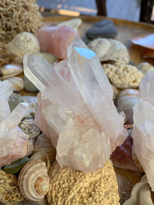 PINK NATURAL HEMATOID QUARTZ CLUSTER SML (187g) | HEALING CRYSTALS | GROUNDING STONES
