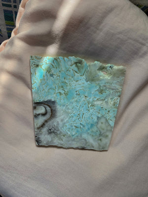 HIGH QUALITY HEMIMORPHITE SLAB | PROTECTIVE CRYSTAL (607g)