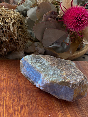 BLUE LACE AGATE NATURAL RAW CHUNK CRYSTAL (290g)