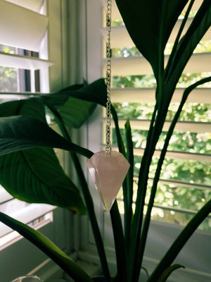 ROSE QUARTZ PENDULUM LRG - RETREALM