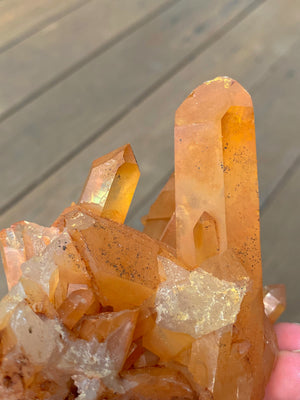 TANGERINE NATURAL QUARTZ CLUSTER MED (Approx 217-285g) | HEALING CRYSTALS | GROUNDING STONES