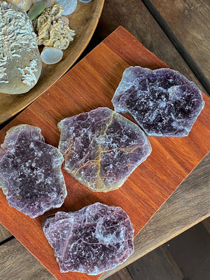 HIGH QUALITY LEPIDOLITE SLAB | TRANQUILITY CRYSTAL
