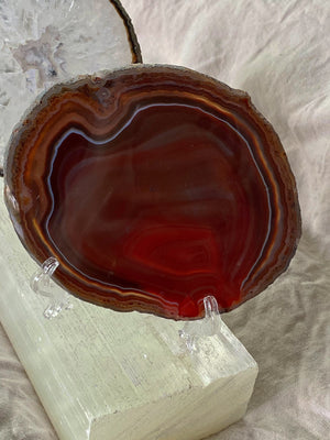 AGATE SLICE CRYSTAL (RANGE OF COLOURS AVAILABLE)