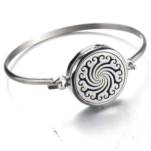 Perfume Essential Oil Diffuser Stainless Steel Bangle