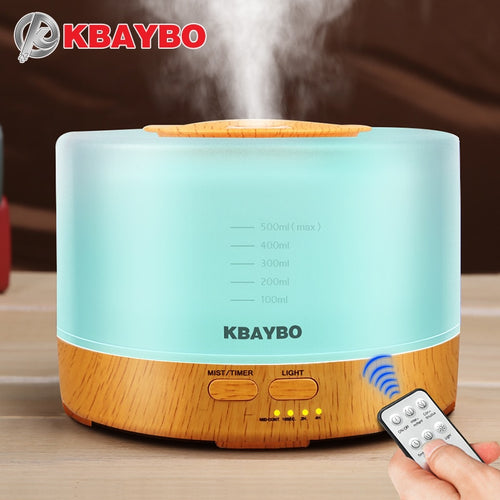 500ml / 17 oz Ultrasonic Air Humidifier & Essential Oil Diffuser with Remote Control