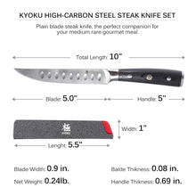 Load image into Gallery viewer, Japanese Non-Serrated Steak Knife Set