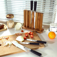 Load image into Gallery viewer, Japanese kitchen knife set with block