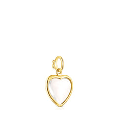 Silver Vermeil TOUS Good Vibes Heart Pendant with Rock Crystal