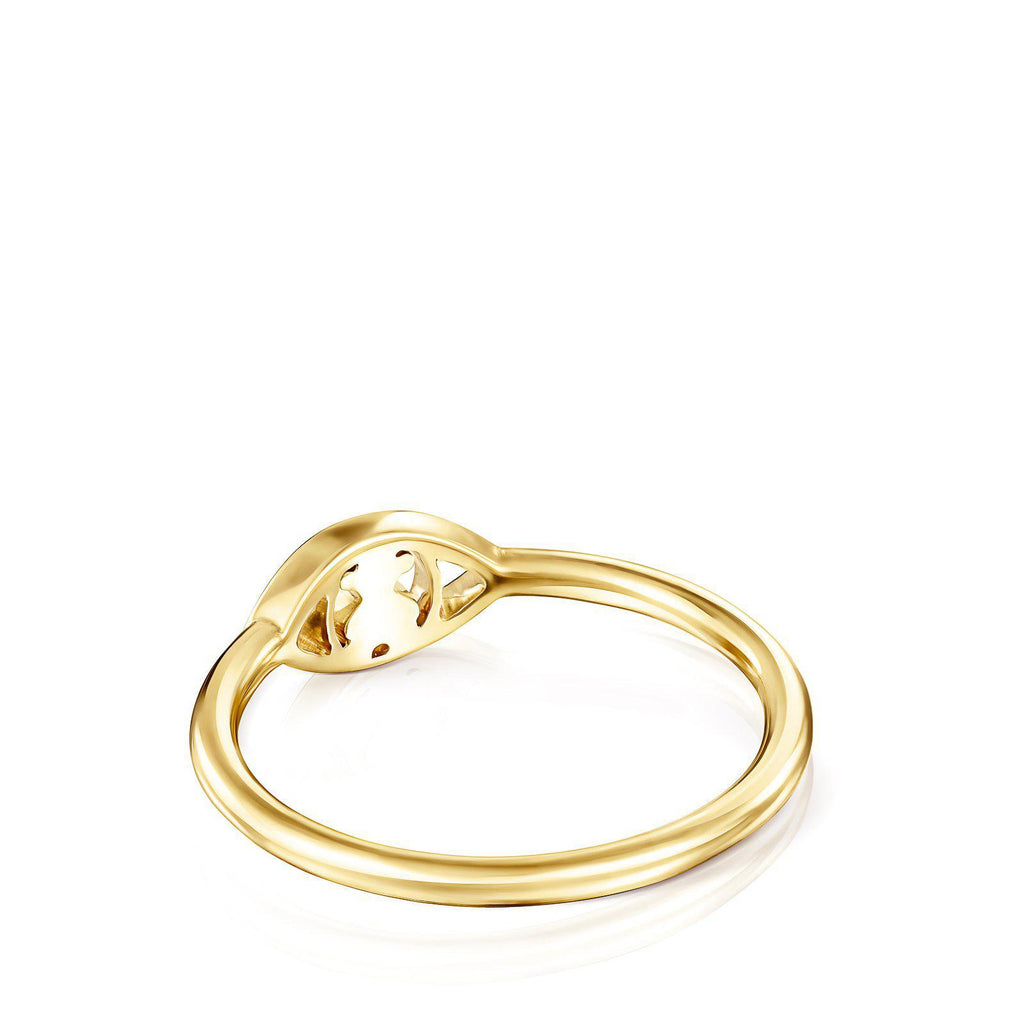 Gold TOUS Good Vibes Eye Ring with Diamonds-Ring-Tous Canada