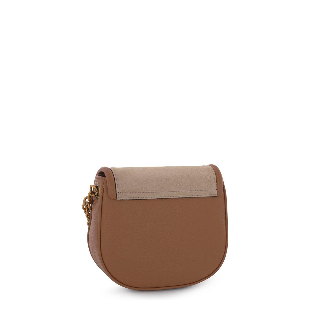 Brown/beige T Hold Chain leather crossbody bag-Handbag-Tous Canada