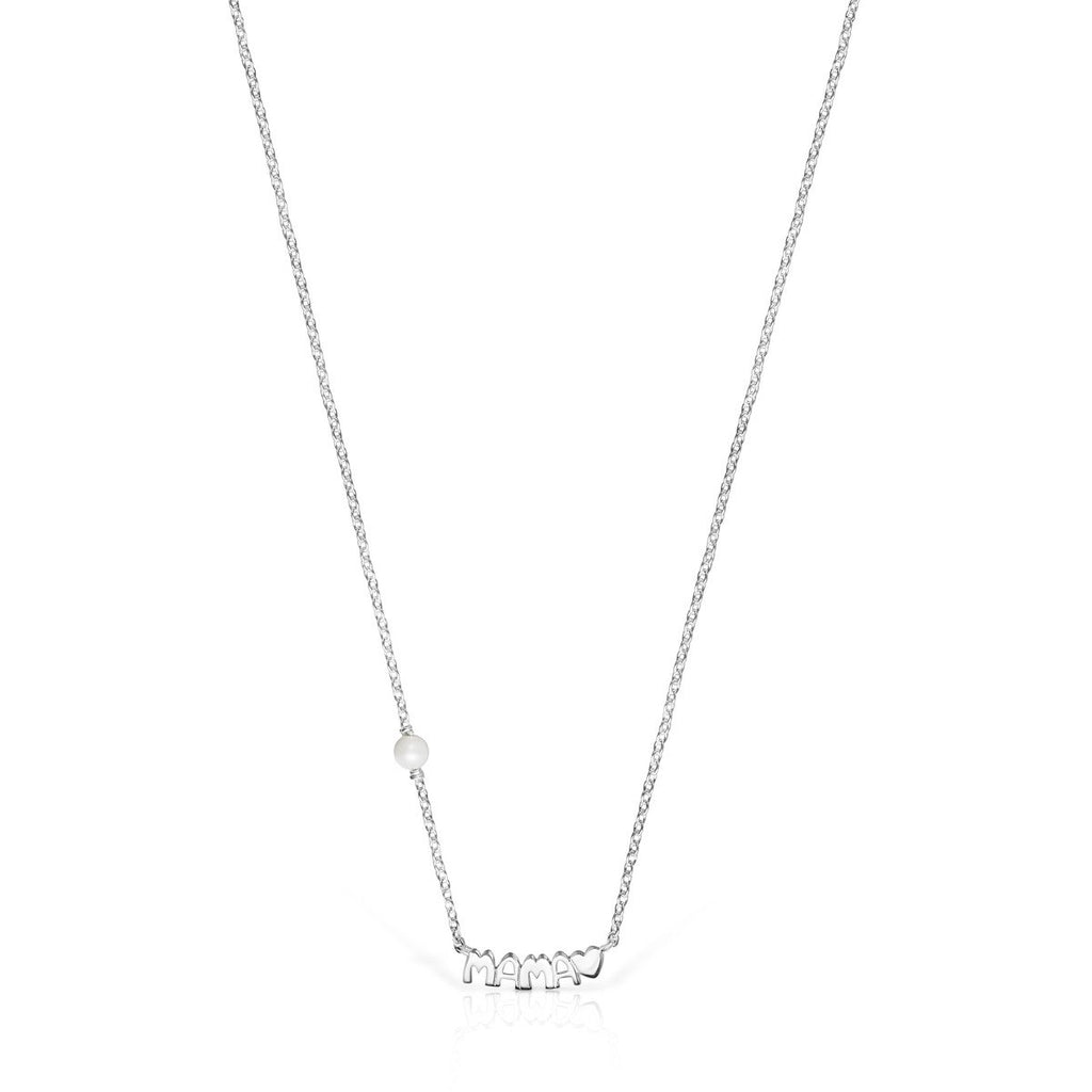 TOUS Mama Necklace in Silver and Mother-of-Pearl-Default-Tous Canada