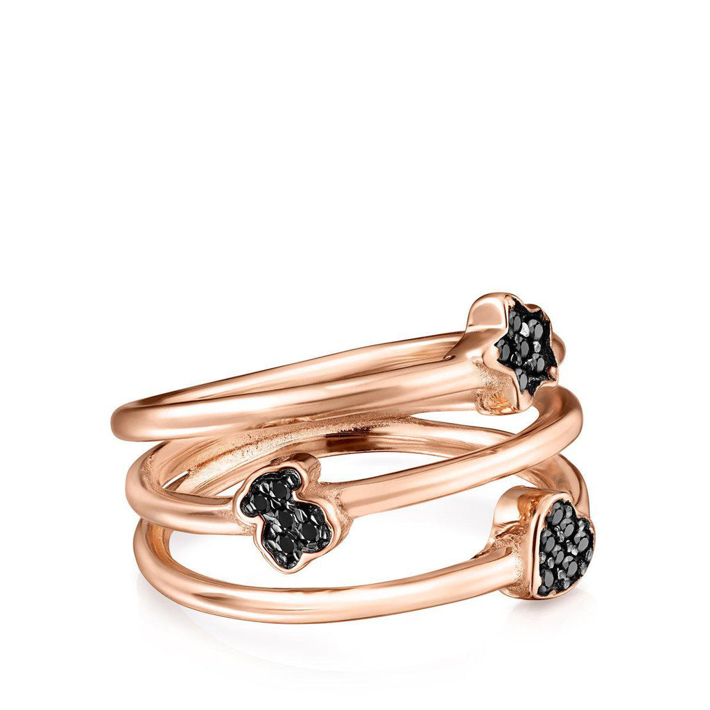 Rose Gold Vermeil Motif Ring with Spinels