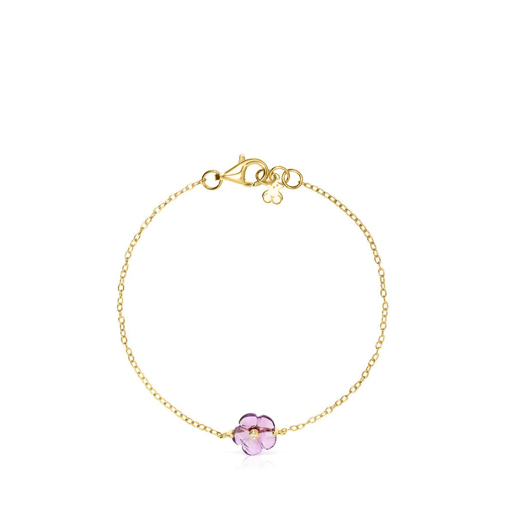 Vita Bracelet in Gold with Amethyst and Diamonds