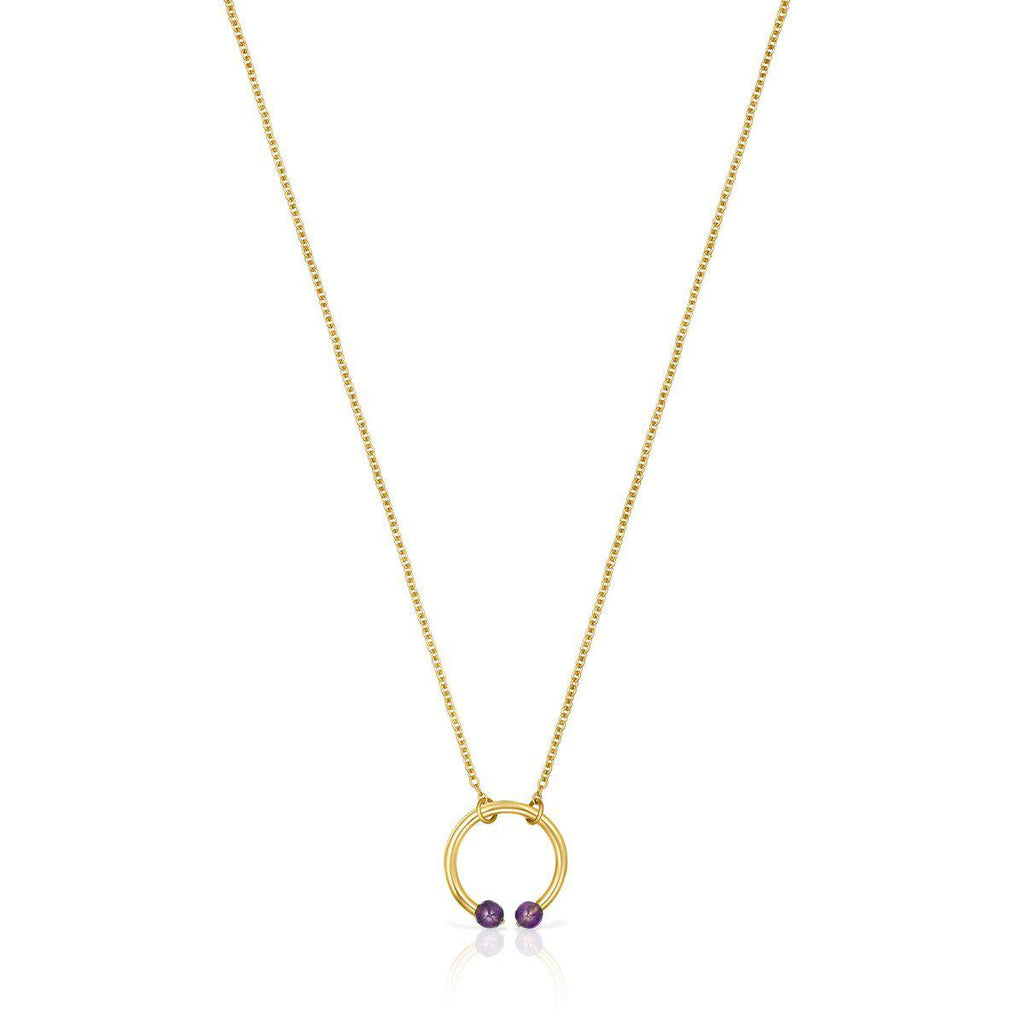 Batala Necklace in Gold Vermeil with Amethyst-Necklace-Tous Canada