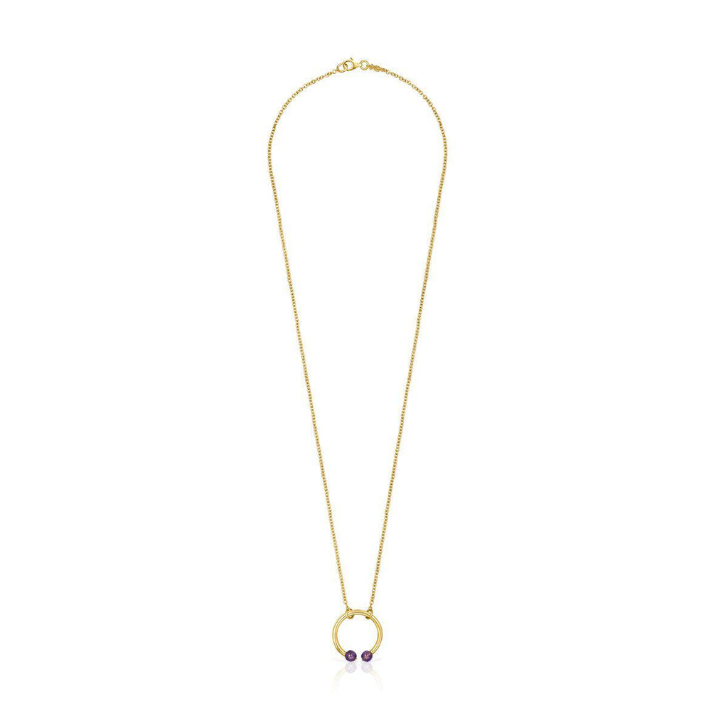 Batala Necklace in Gold Vermeil with Amethyst
