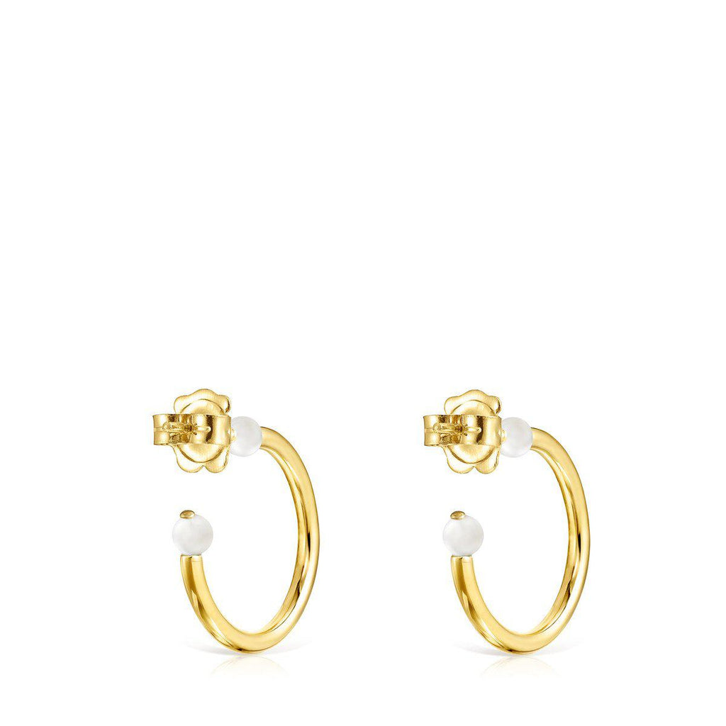 Small Batala Earrings Gold Vermeil with Pearl