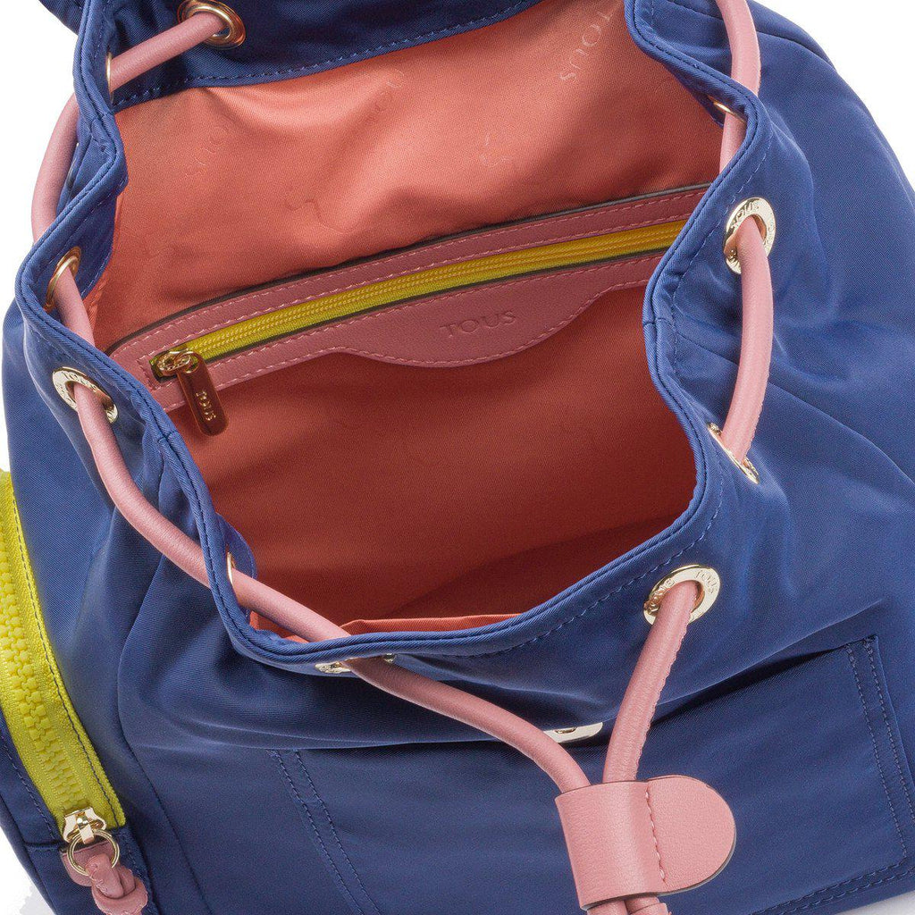 Small Tri-Navy Coloured Doromy Backpack-Backpack-Tous Canada