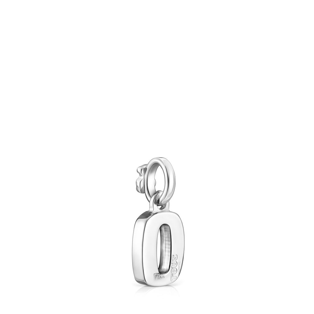 Alphabet letter O pendant in silver