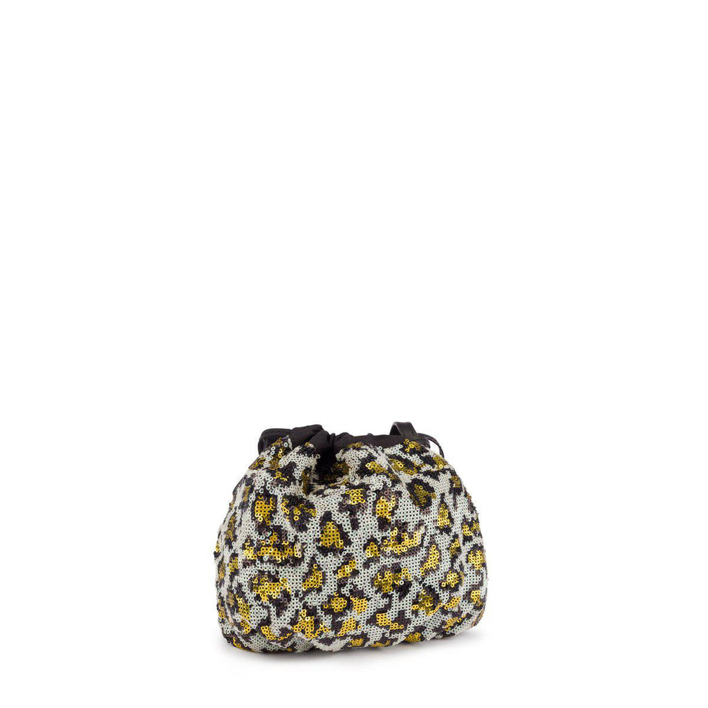 Mini Black Liz Wild Sequins Bucket Bag