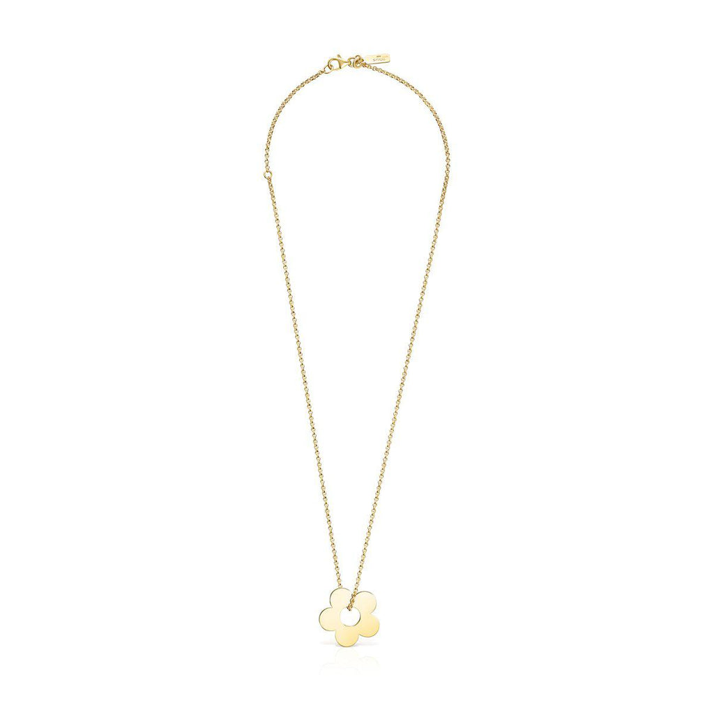 Hold Metal Gold Vermeil Flower Necklace