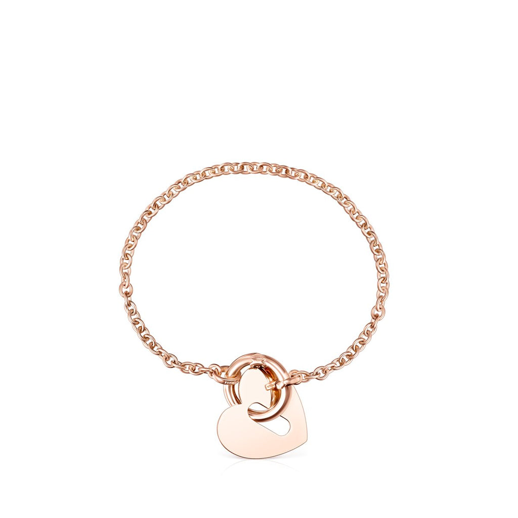 Hold Metal Rose Gold Vermeil Heart Bracelet