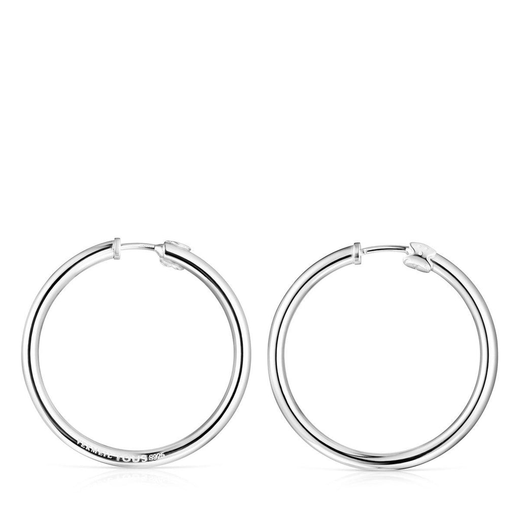 TOUS Basics Large Earrings in Silver