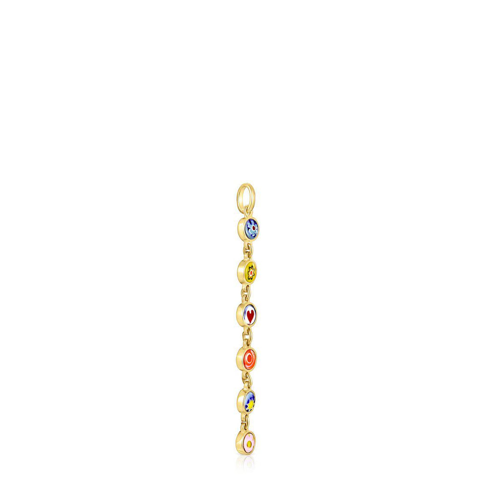 Minifiore Pendant in Gold Vermeil and Murano Glass-Tous Canada
