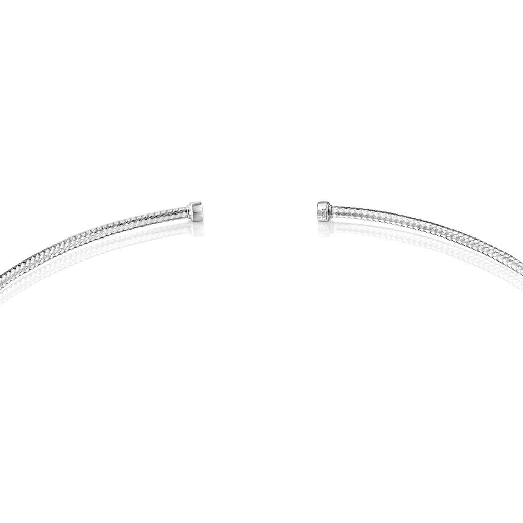 Light Choker in White Gold with Diamonds