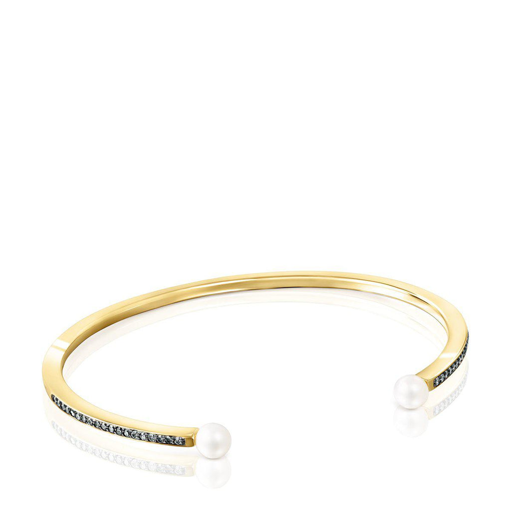 Nocturne Bracelet in Gold Vermeil with Diamonds and Pearls