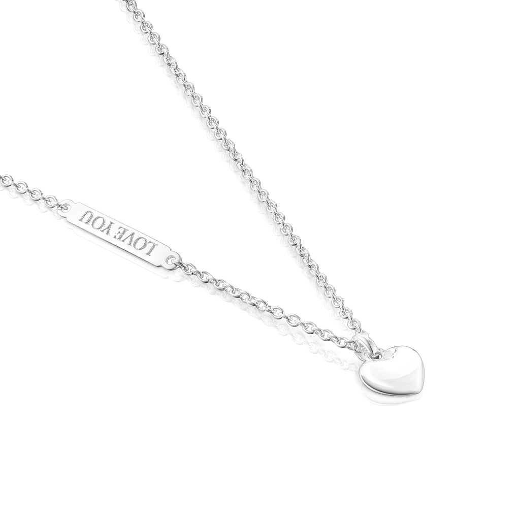 Silver Valentine's Day Necklace with Heart Pendant