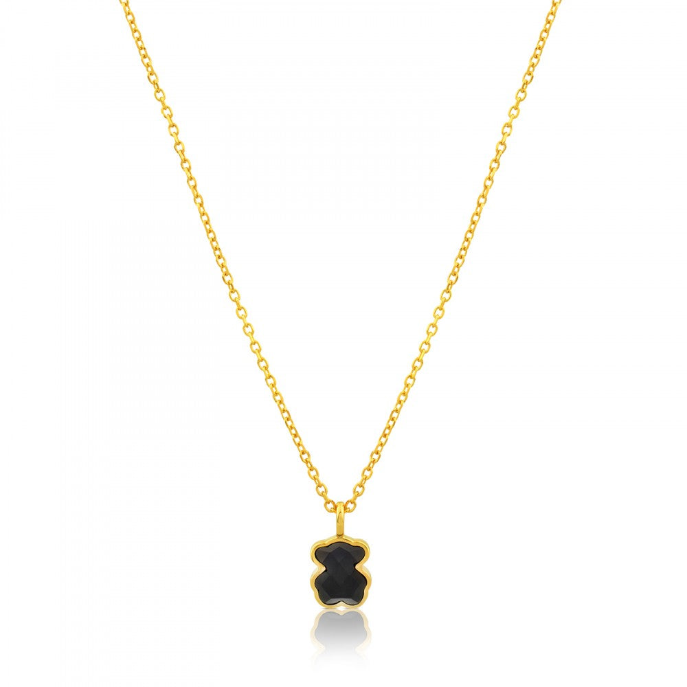 Vermeil Silver TOUS Color Necklace with Onyx