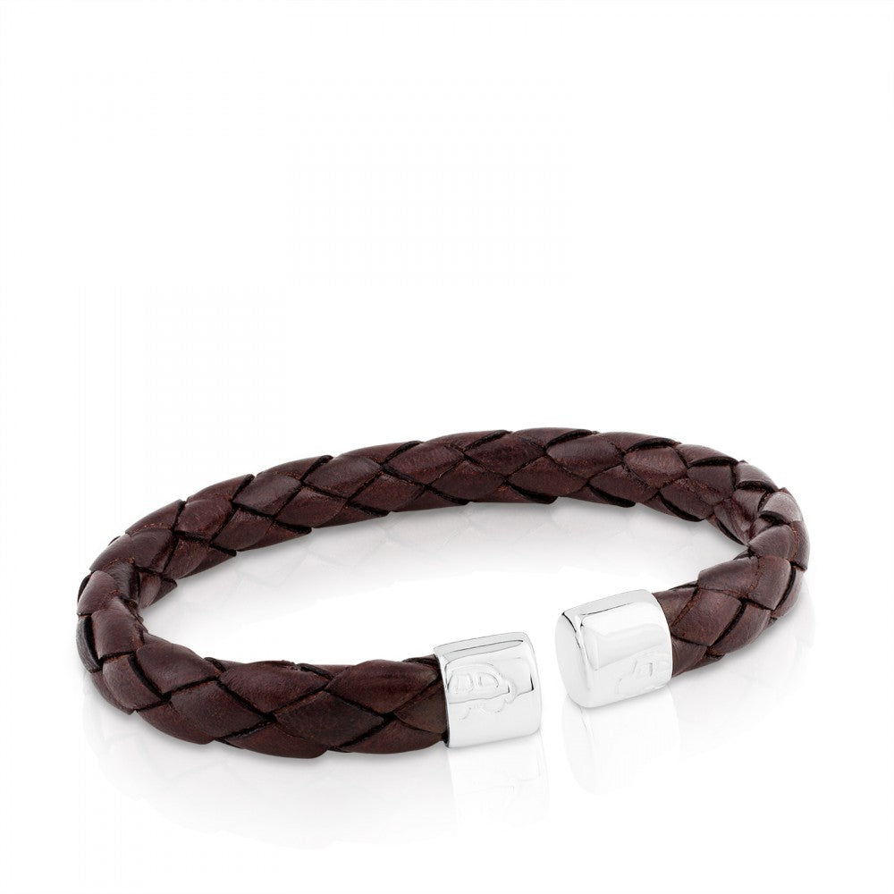 CUF AG SILCN LTHR BRAID BROWN CAR