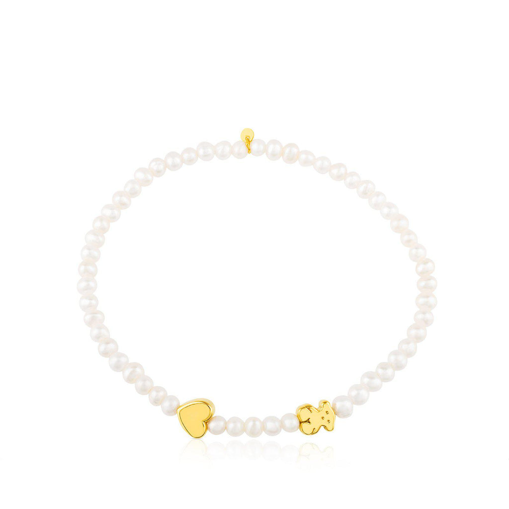 Gold Sweet Dolls XXS Bracelet with Pearl